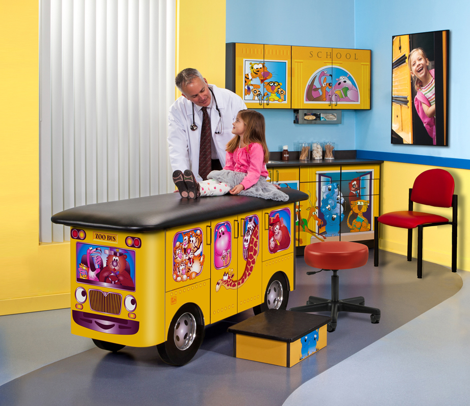 7020 RR Pediatric Ready Room with stool 2020