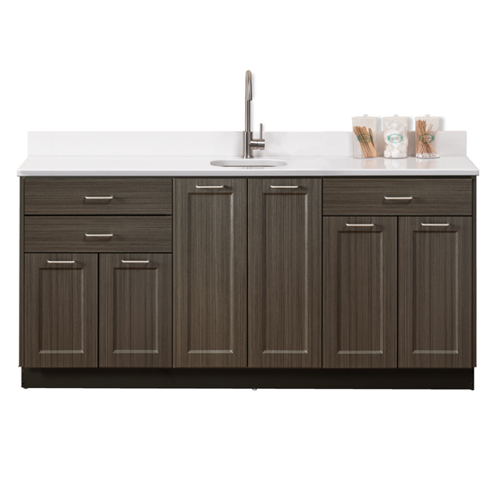 Fashion Finish 72 Base Cabinet With 6 Doors And Clinton Industries