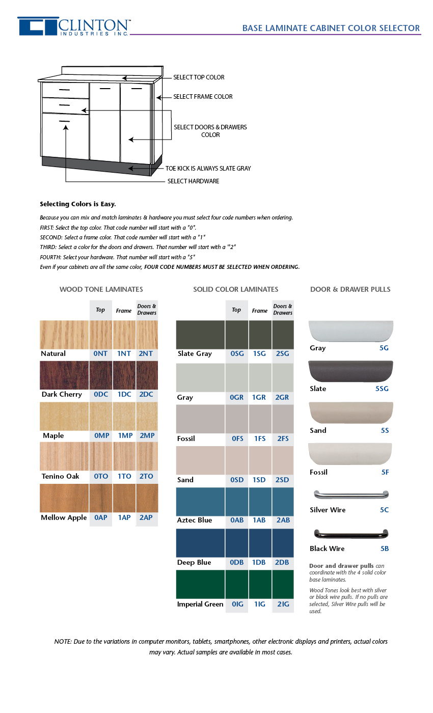 Base Laminate Color Selector