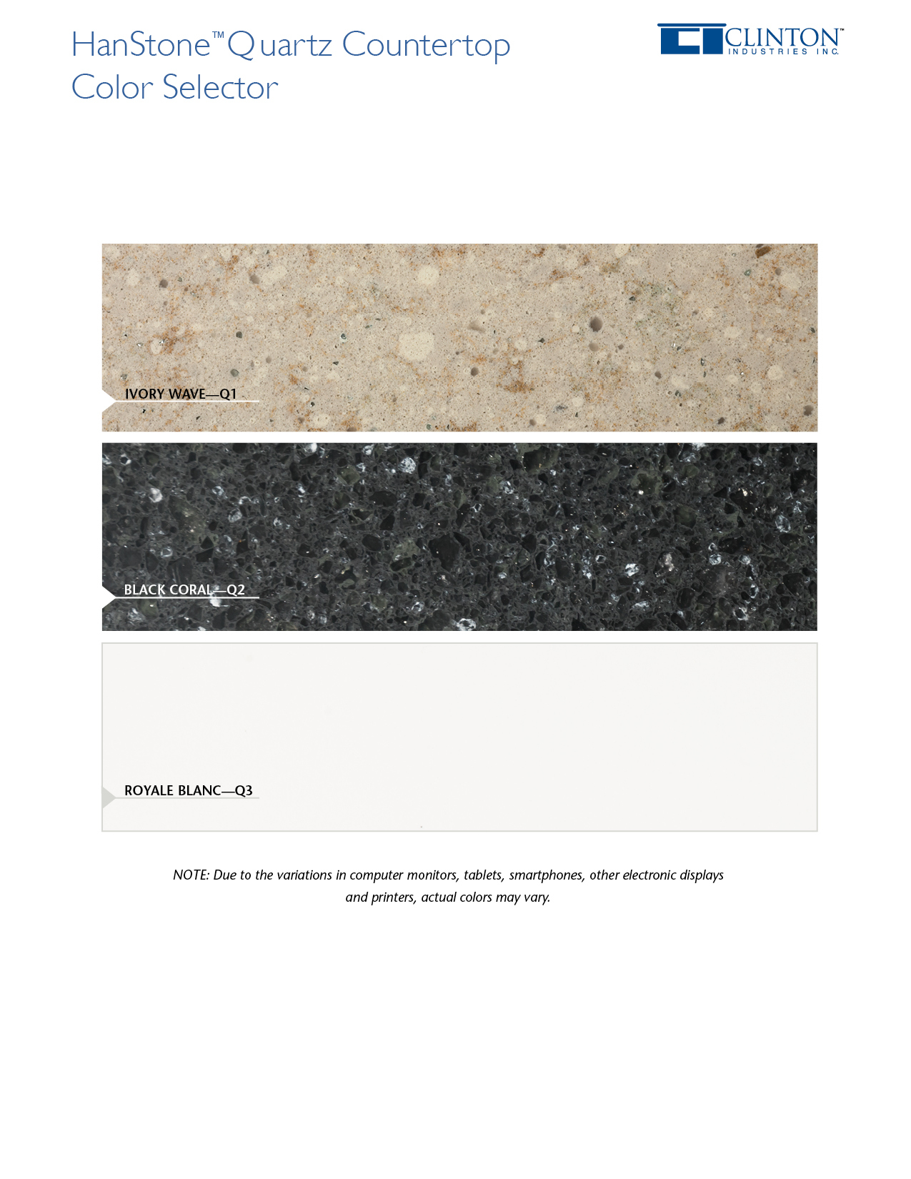 HanStone™ Quartz Countertop Color Selector
