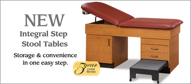 Integral Step Stool Tables