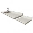 42 48 White Carrara With Desk