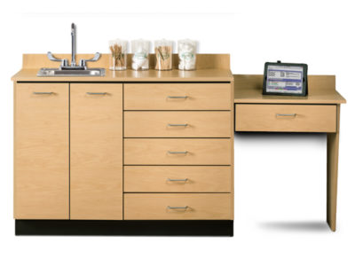 Base Cabinet Set With 2 Doors 5 Drawers And Desk