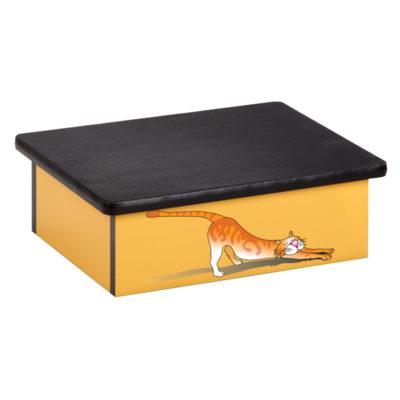 Stretching Cat, Laminate Step Stool
