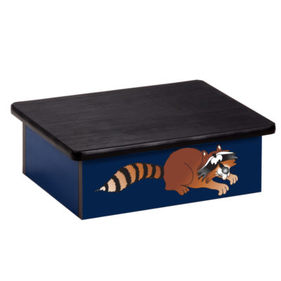 Raccoon Blue Laminate Step Stool