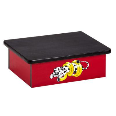 Dalmatian, Red, Laminate Step Stool