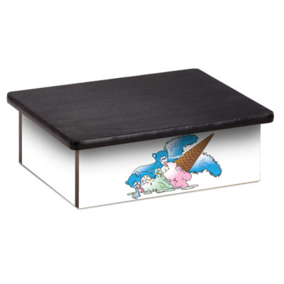 Ice Cream Squirrel Laminate Step Stool
