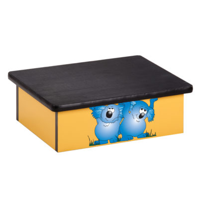 Koala, Yellow, Laminate Step Stool