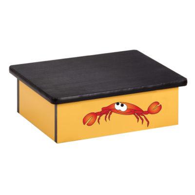 Ocean Crab, Yellow, Laminate Step Stool