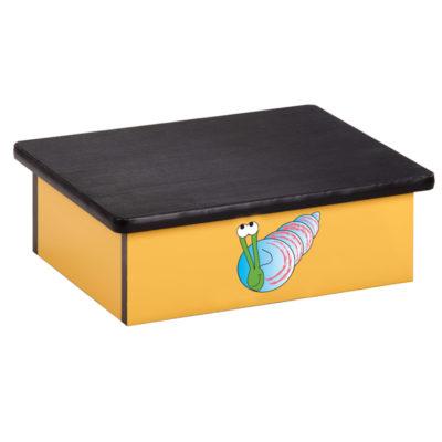 Ocean Snail, Yellow, Laminate Step Stool