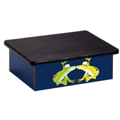 Rainforest, Tree Frogs, Blue, Laminate Step Stool