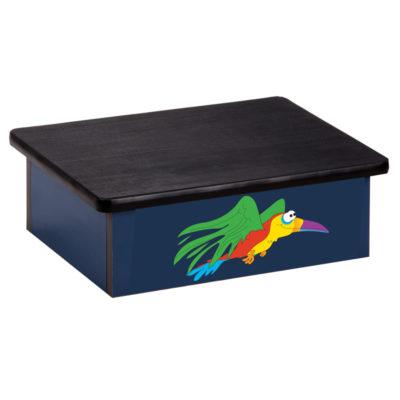 Rainforest Parrot, Blue, Laminate Step Stool