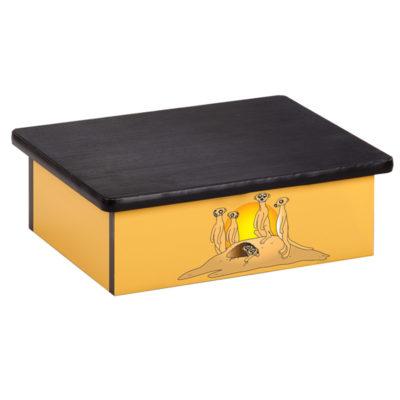 Serengeti Meerkats, Yellow, Laminate Step Stool
