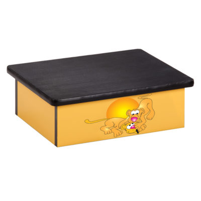 Serengeti Lion Cubs, Yellow, Laminate Step Stool