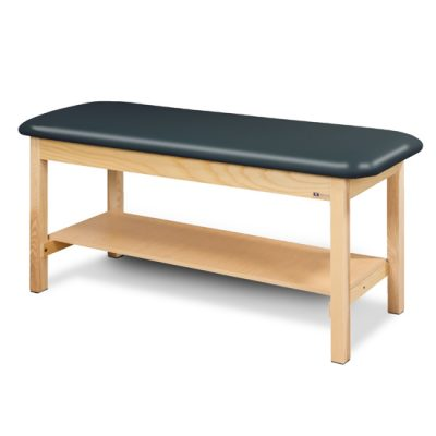 Flat Top, Classic Series, Straight Line Treatment Table with Full Shelf