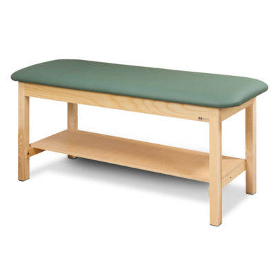 Flat Top Classic Series Straight Line Treatment Table with Full Shelf