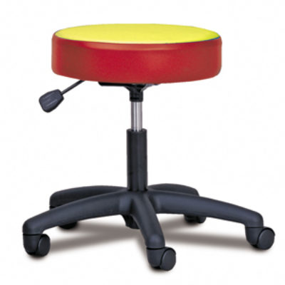 5-Leg Pneumatic Stool with Multi-Color Top