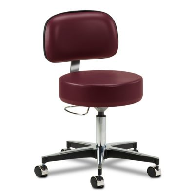 5-Leg Pneumatic Stool with Backrest