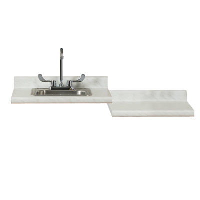 24 White Carrara With Desk