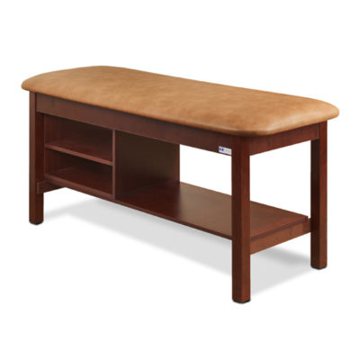 Flat Top Classic Series Straight Line Treatment Table with Shelving