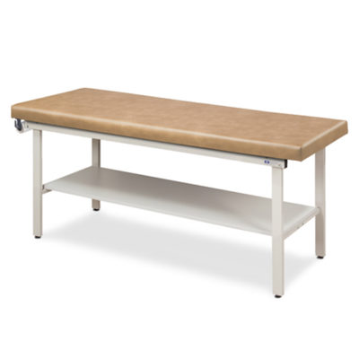 Flat Top Alpha-S Series Straight Line Treatment Table with Full Shelf