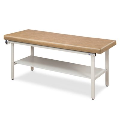 Flat Top, Alpha Series, Straight Line Treatment Table with Full Shelf