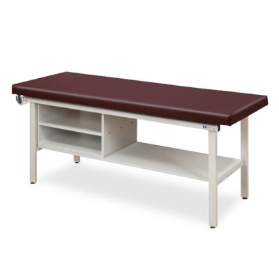 Flat Top, Alpha Series, Straight Line Treatment Table with Shelving