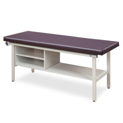 Flat Top Alpha-S Series Straight Line Treatment Table with Shelving