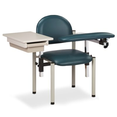SC Series, Padded, Blood Drawing Chair  with Padded Flip Arm and Drawer