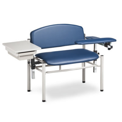 SC Series, Extra-Wide, Padded, Blood Draw Chair w/ Padded Flip Arm and Drawer