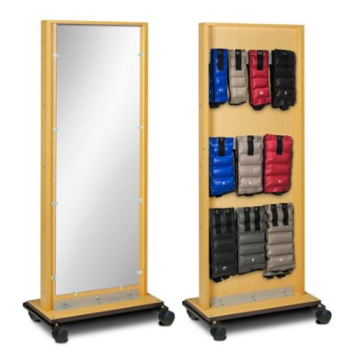 Mobile Adult Mirror with Cuff Weight Rac