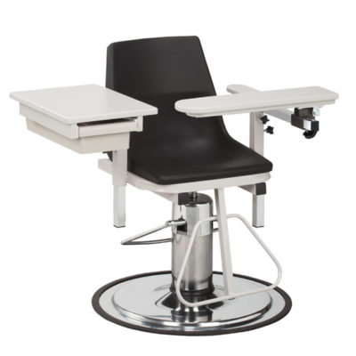 H Series, E-Z-Clean, Blood Drawing Chair  with ClintonClean™ Flip Arm and Drawer