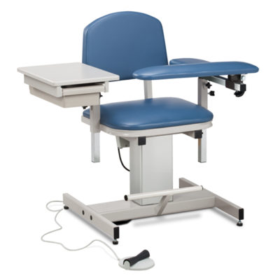 Power Series, Blood Drawing Chair  with Padded Flip Arm and Drawer