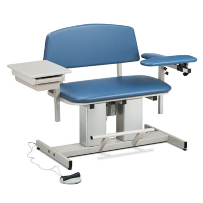Power Series, Bariatric, Blood Drawing Chair with Padded Flip Arm and Drawer