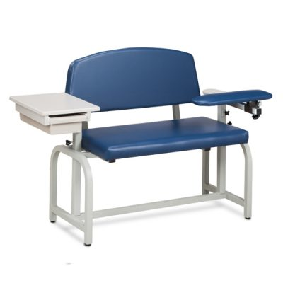 Lab X Series, Extra-Wide, Blood Chair with Padded Flip Arm and Drawer