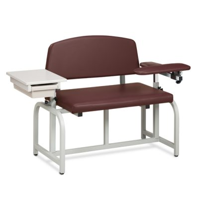 Lab X Series, Bariatric, Blood Drawing  Chair with Padded Flip Arm and Drawer