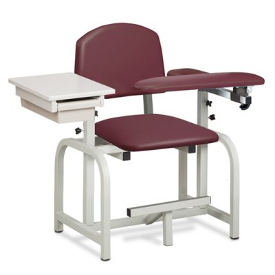 Lab X Series, Blood Drawing Chair with Padded Flip Arm and Drawer