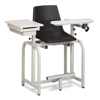 Standard Lab Series, Extra-Tall,Blood Drawing Chair with ClintonClean™ Flip Arm and Drawer