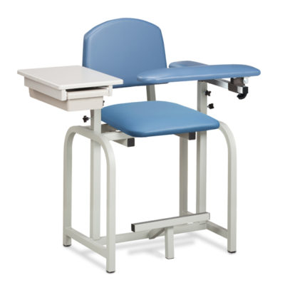 Lab X Series, Extra-Tall, Blood Drawing Chair w/ Padded Flip Arm and Drawer