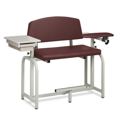 Lab X Series, Extra-Wide /Extra-Tall, Blood Chair/ Padded Flip Arm and Drawer