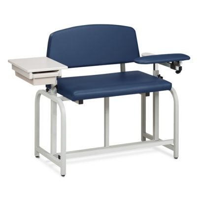 Lab X Series, Bariatric, Extra-Tall, Draw Chair w/Padded Flip Arm and Drawer