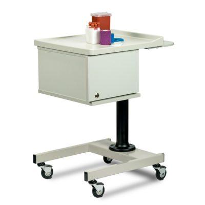 Small, H-Base, Pneumatic, Two-Bin Phlebotomy Cart