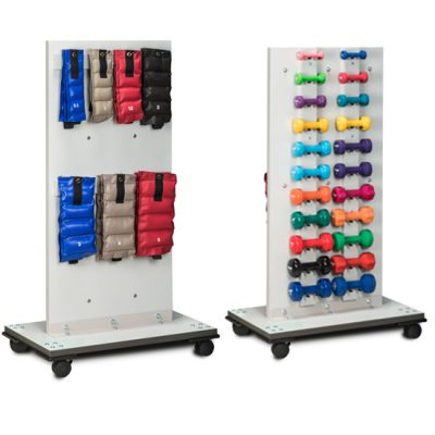 Mobile Cuff Weight and Dumbbell Rac
