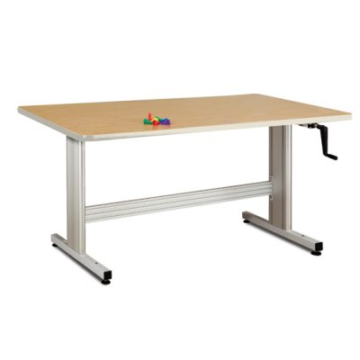 Group Therapy Table with Hand Crank Height Adjustment