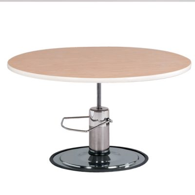 Laminate, Round Top, Hydraulic Table
