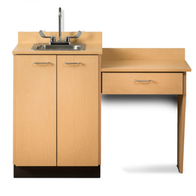 Base Cabinet Set with 2 Doors and Desk