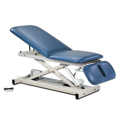 Open Base Power Table with Adjust. Backrest and Drop Section