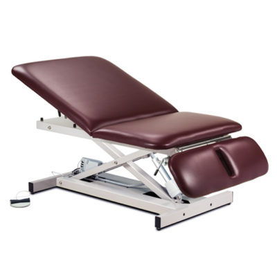 Extra Wide, Bariatric, Power Table with Adjustable Backrest and Drop Section