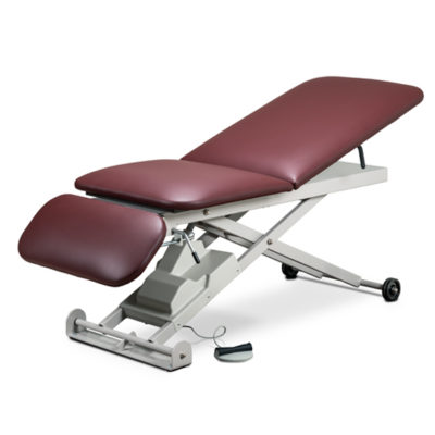 E-Series, Power Table with Adjust. Backrest and Drop Section