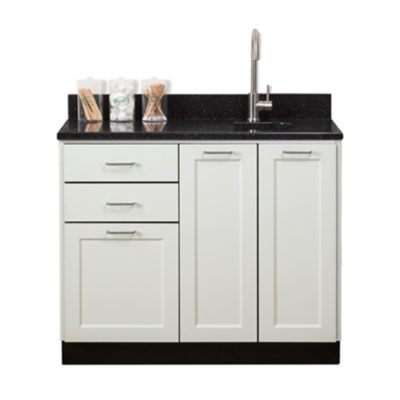 "Fashion Finish 42"" Base Cabinet with 3 Doors and 2 Drawers"